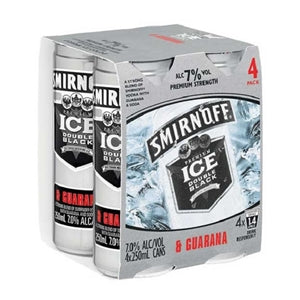 SMIRNOFF GUARANA 7% 4PK CANS 250ML - Thirsty Liquor Hillcrest
