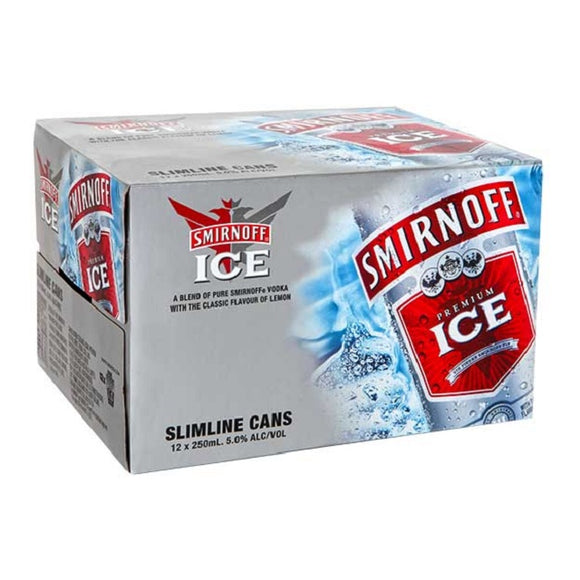 SMIRNOFF ICE 5% 12PK CANS 250ML - Thirsty Liquor Hillcrest