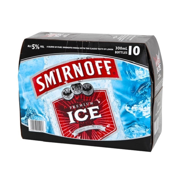 SMIRNOFF ICE 5% 10PK BTLS 300ML - Thirsty Liquor Hillcrest