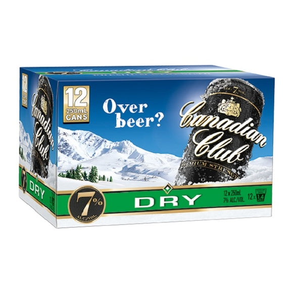 CANADIAN CLUB 7% 12PK CANS 250ML - Thirsty Liquor Hillcrest