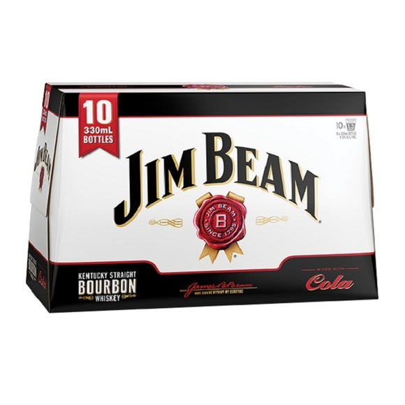 JIM BEAM 10PK BTLS 330ML - Thirsty Liquor Hillcrest