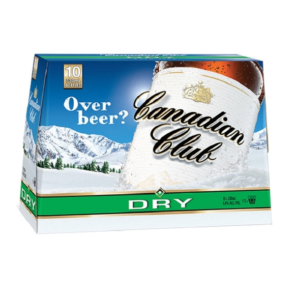 CANADIAN CLUB 10PK BTLS 330ML - Thirsty Liquor Hillcrest