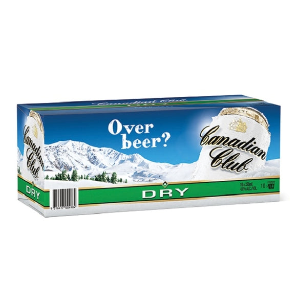 CANADIAN CLUB 10PK CANS 330ML - Thirsty Liquor Hillcrest