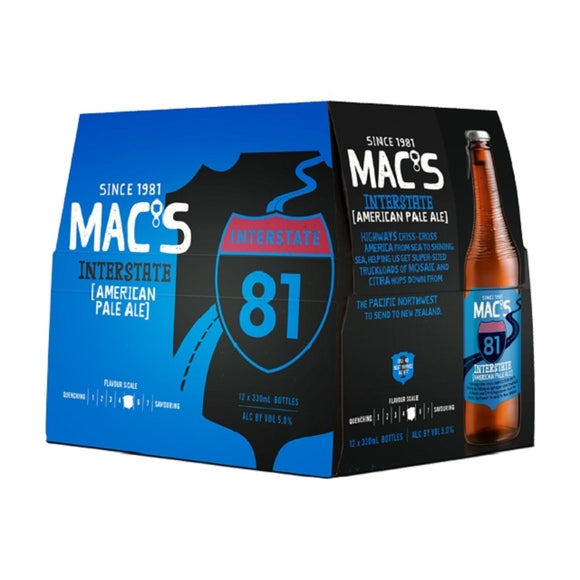 MACS INTERSTATE APA 12PK BTLS 330ML - Thirsty Liquor Hillcrest