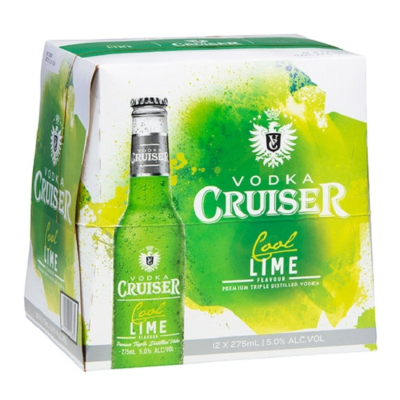 CRUISER 5% COOL LIME 12PK BTLS 275ML - Thirsty Liquor Hillcrest