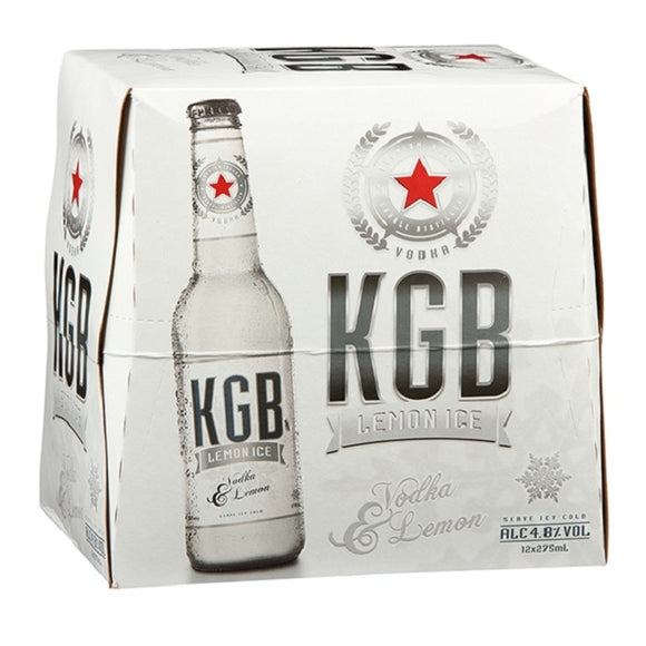 KGB 5% LEMON LIME VODKA 12PK BTLS 330ML - Thirsty Liquor Hillcrest