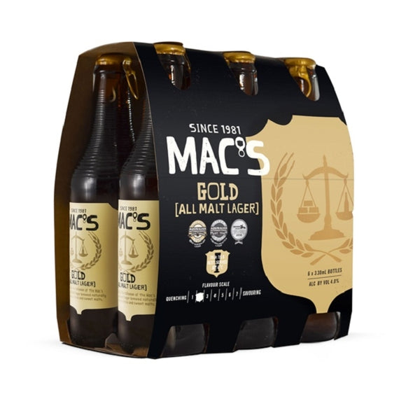MACS GOLD 6PK BTLS 330ML - Thirsty Liquor Hillcrest