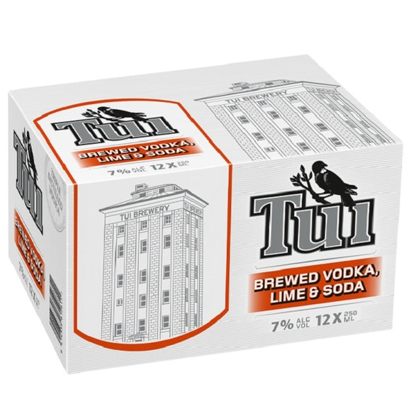 TUI VODKA LIME SODA 7% 12PK CANS 250ML - Thirsty Liquor Hillcrest