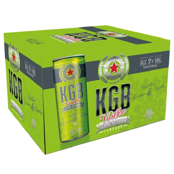 KGB 7% LIME SODA 12PK CANS 250ML - Thirsty Liquor Hillcrest