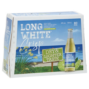 LONG WHITE CRISP LIME 10PK BTLS 320ML - Thirsty Liquor Hillcrest