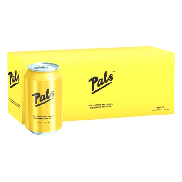 PALS GIN LEMON CUCUMBER SODA 10PK CANS 330ML - THIRSTY LIQUOR HILLCREST