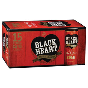 BLACK HEART 5% RED 15PK CANS 250ML - Thirsty Liquor Hillcrest
