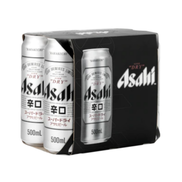 ASAHI SUPER DRY 6PK CANS 500ML - Thirsty Liquor Hillcrest
