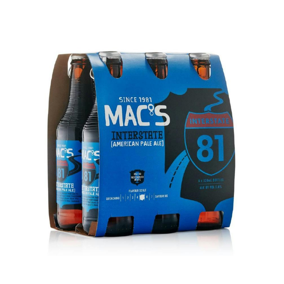 MACS INTERSTATE APA 6PK 330ML - Thirsty Liquor Hillcrest