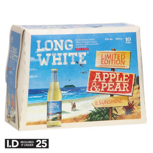 LONG WHITE APPLE & PEAR 10PK BTLS 320ML - Thirsty Liquor Hillcrest