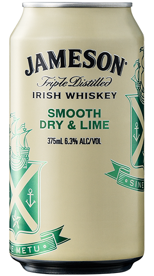JAMESON DRY & LIME 6.3% 4PK CANS 375ML - Thirsty Liquor Hillcrest