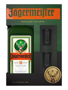 JAGERMEISTER 1.75 LITRE GIFT PACK WITH PUMP & SHOT GLASSES - Thirsty Liquor Hillcrest