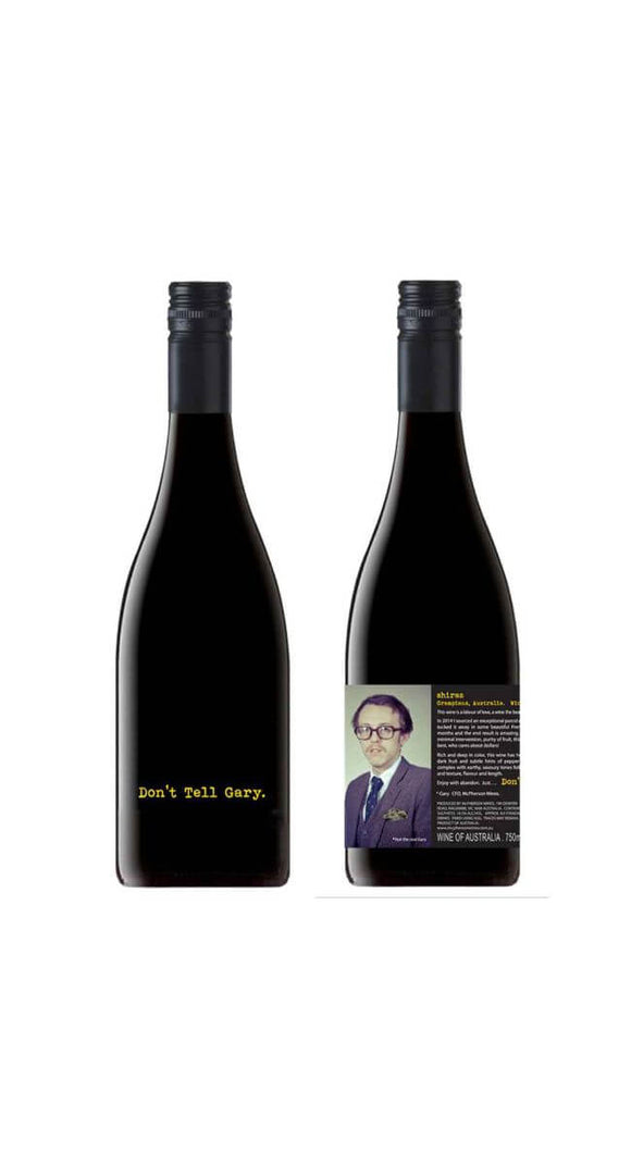 DONT TELL GARY SHIRAZ 750ML - Thirsty Liquor Hillcrest