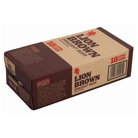 LION BROWN 18PK CANS 330ML - Thirsty Liquor Hillcrest