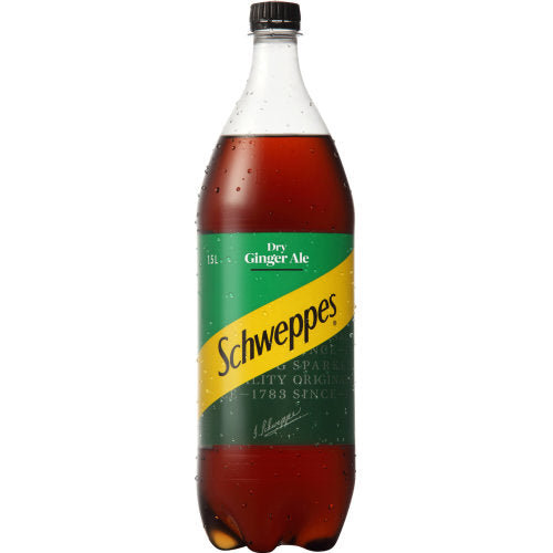 SCHWEPPES DRY GINGER ALE 1.5 LITRE - Thirsty Liquor Hillcrest