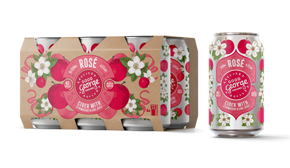 GOOD GEORGE ROSE CIDER 6PK CANS 330ML - Thirsty Liquor Hillcrest