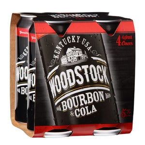 WOODSTOCK 5% 4PK CANS 440ML - Thirsty Liquor Hillcrest
