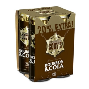 CODYS 7% 4PK CANS 300ML - THIRSTY LIQUOR HILLCREST