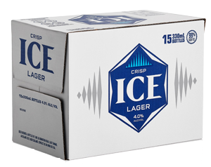 ICE BEER 4% 15PK BTLS 330ML - Thirsty Liquor Hillcrest
