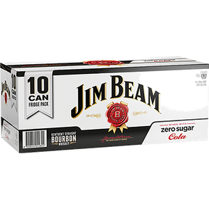 JIM BEAM ZERO 4.8% 10PK CANS 330ML - Thirsty Liquor Hillcrest