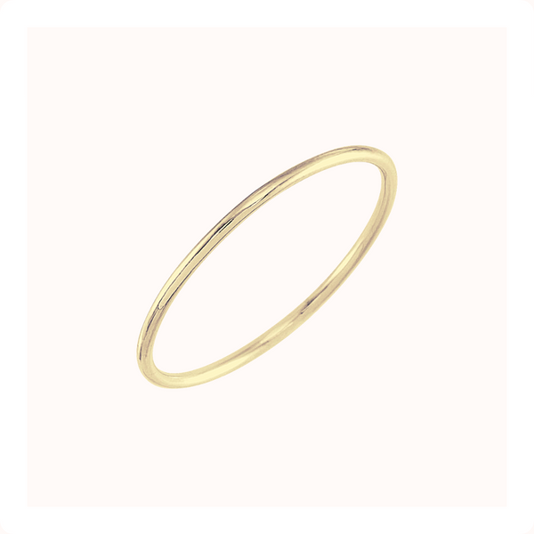 Plain Stacking Ring - 14K Solid Gold
