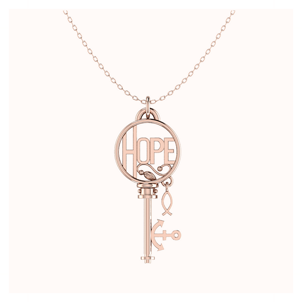 HOPE Key 18k Rose Gold Vermeil
