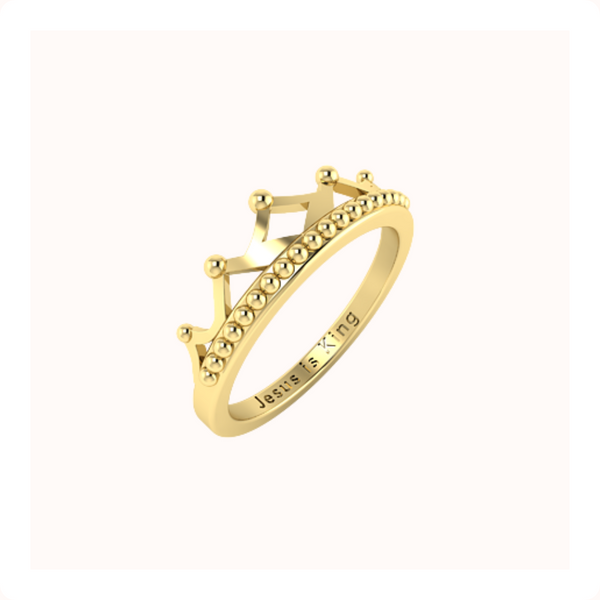 Crown Ring - 14k Solid Gold