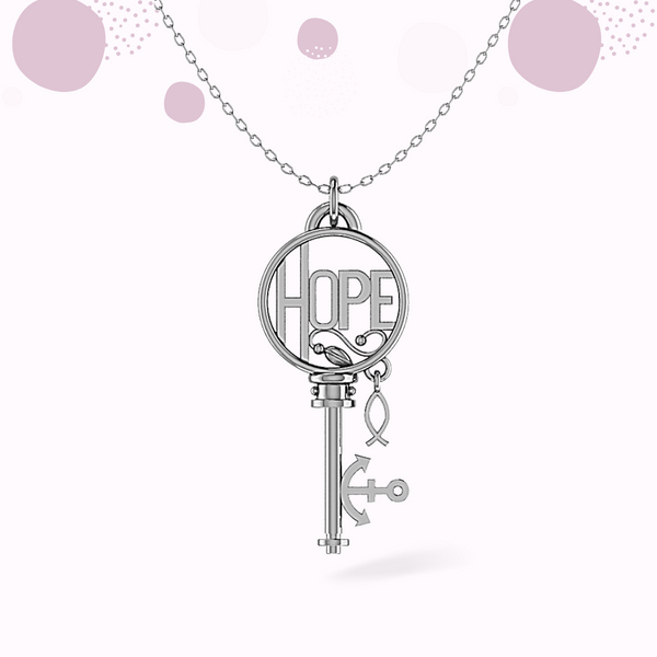 HOPE Key Sterling Silver