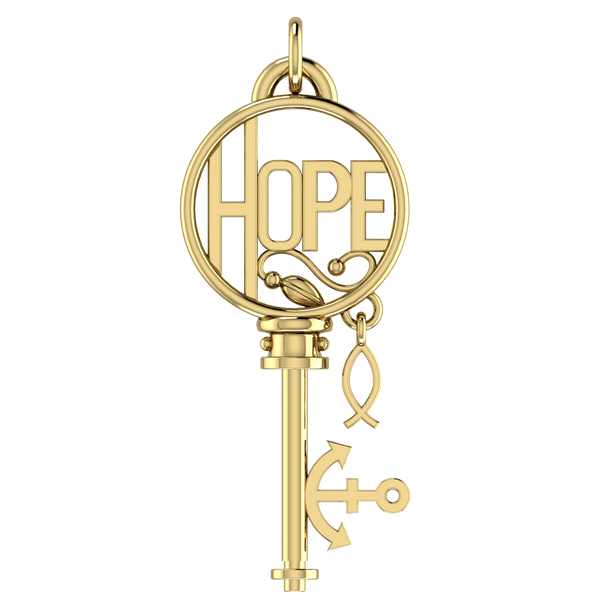 HOPE Key 14k Solid Gold