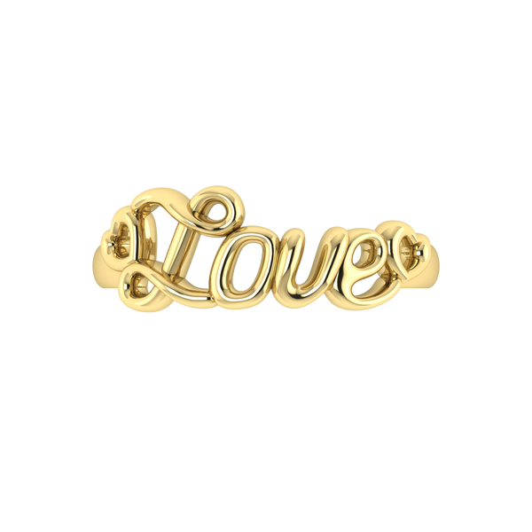 Love Written Band - 14K Solid Gold