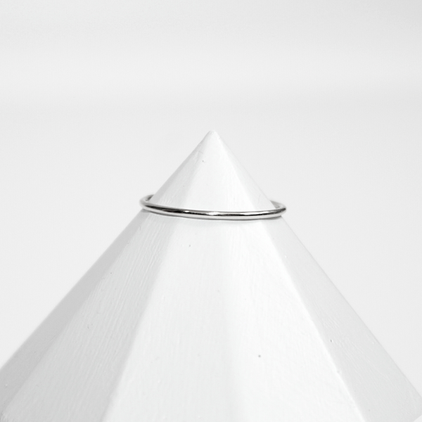 Plain Stacking Ring - Sterling Silver