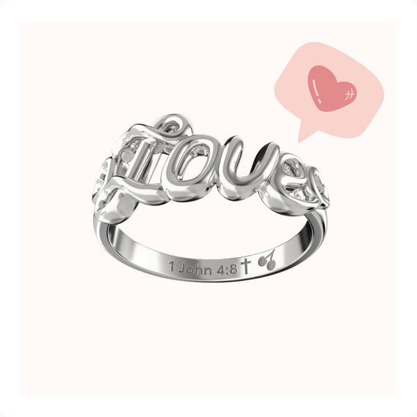 Love Written Ring - Sterling Silver