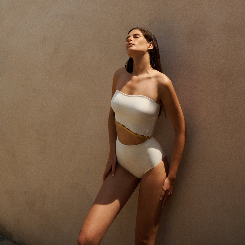 BREE ONE PIECE IN CREAM/MIMOSA