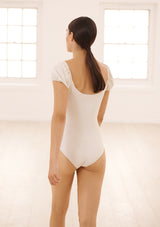 CAPRI LEOTARD IN ECONYL® - CREME