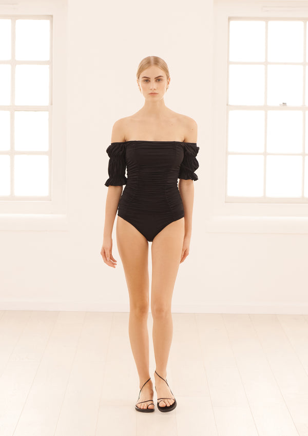 LORA ONE PIECE IN ECONYL® - NERO