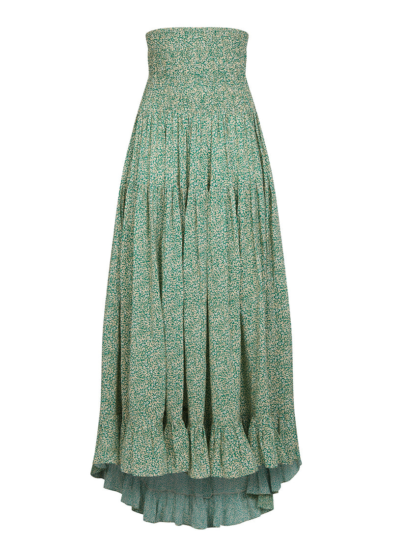LORA SKIRT IN ORGANIC - COSMOS EMERALD