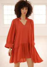 MARAIS DRESS IN ROUGE TENCEL™