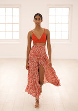 MILU IN ORGANIC SILK - DOTTY ROUGE