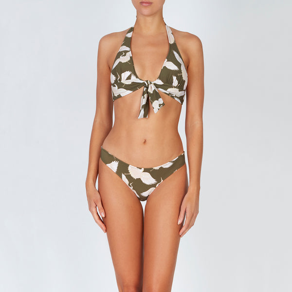 EVARAE Melita Classic Bikini Bottoms in Bird of Happiness Sage front