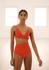 SABINE BRALETTE IN RED TEXTURE