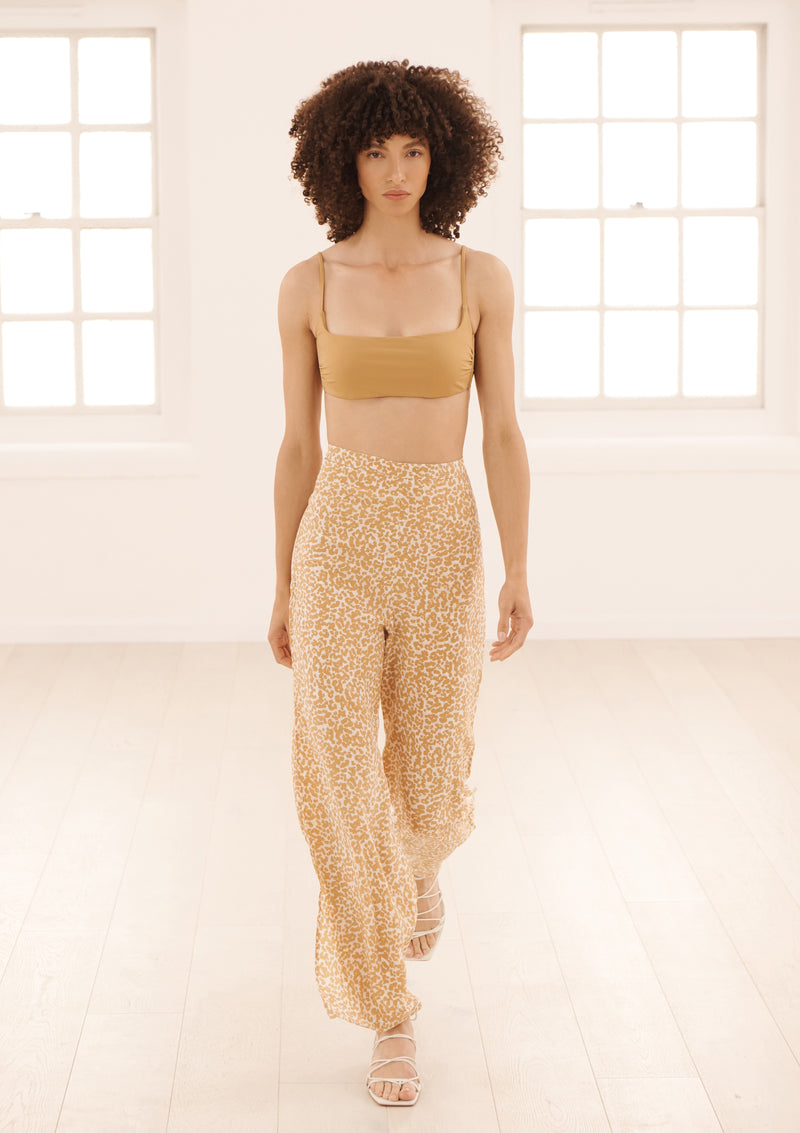 DIANA TROUSERS IN ORGANIC SILK - DOTTY SAND