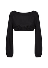 BELLA TOP IN BLACK TENCEL™
