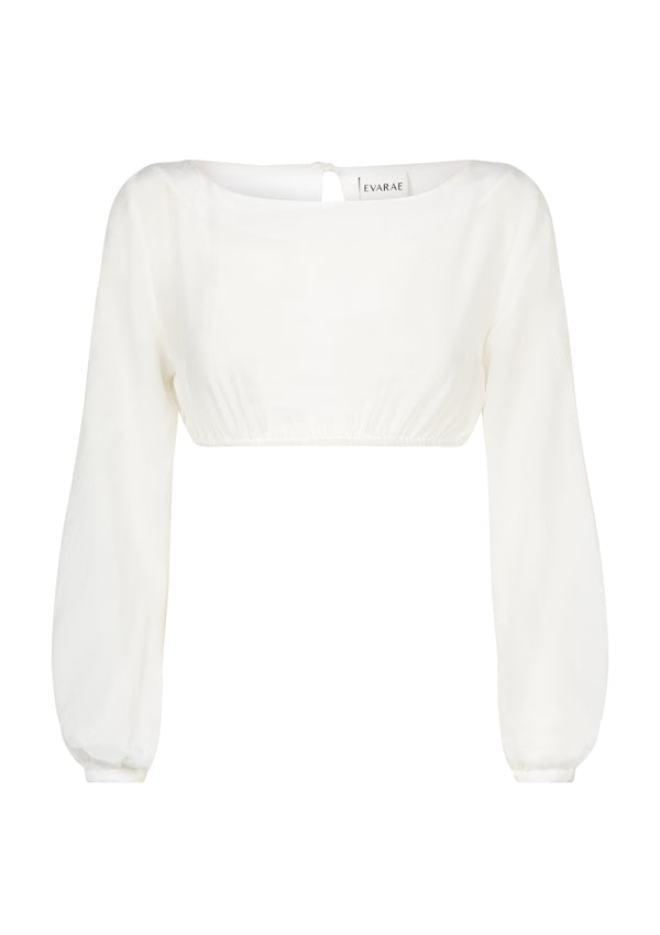 BELLA TOP IN SOFT WHITE TENCEL™