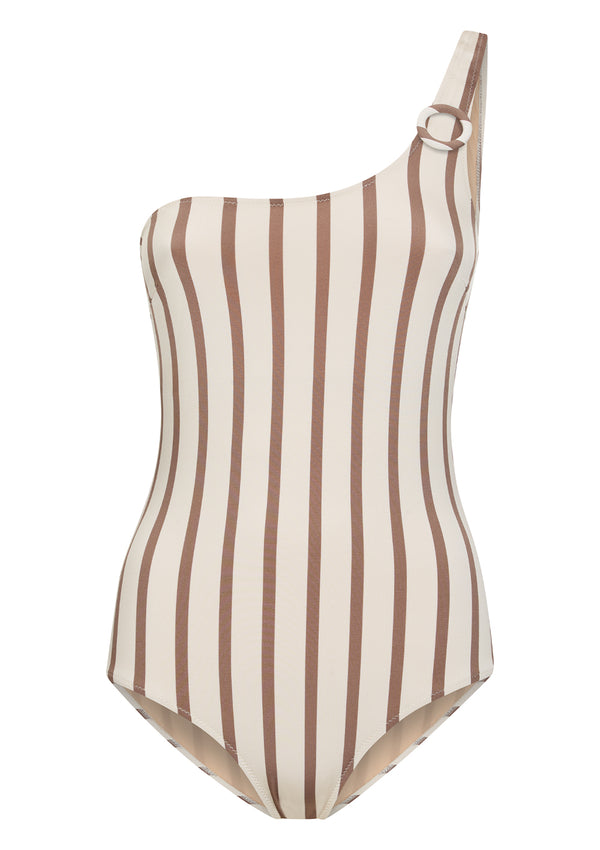 BEYOND SWIMSUIT IN ECONYL® - MUSHROOM STRIPE