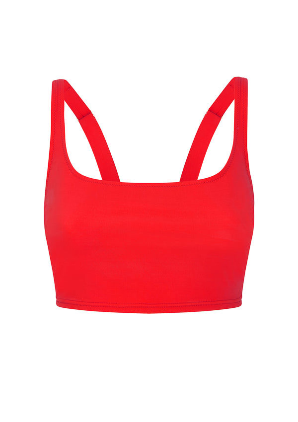 CLEO BRALETTE IN ECONYL® - ROUGE
